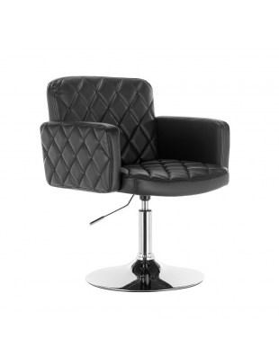 Peter - Fotel fryzjerski czarny