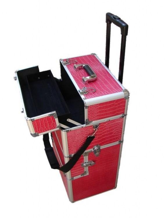 Kufer aluminiowy MAX -różowy
