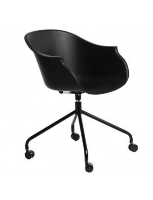 Krzesło na kółkach Roundy czarne Outlet