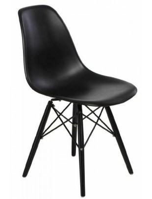 Krzesło P016W PP czarne/black Outlet