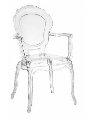 Krzesło transparentne Queen Arm Outlet