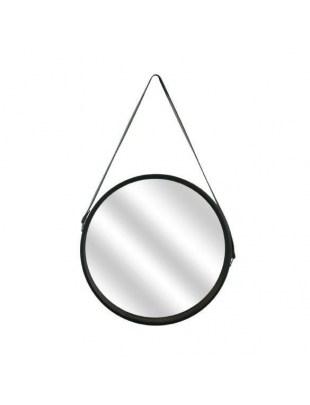 Lustro okrągłe Runa 40cm czarne Outlet