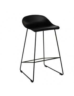 Krzesło barowe Molly czarne Low Outlet