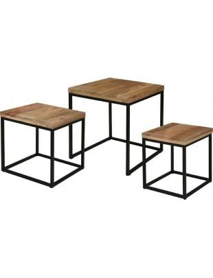 Zestaw stolików Mango Wood Intesi Outlet