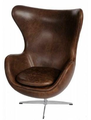 Fotel Jajo brązowy ciemny vintage Premium Outlet