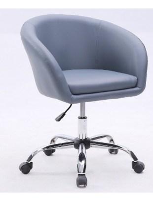 BART- Fotel fryzjerski szary kółka
