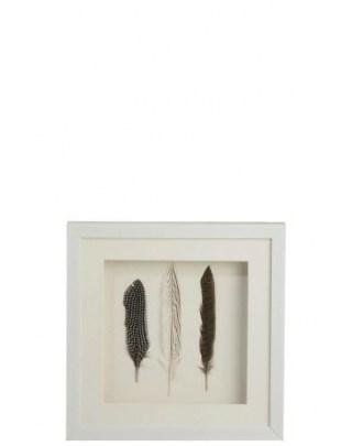 Obraz dekoracyjny Feathers 3 white