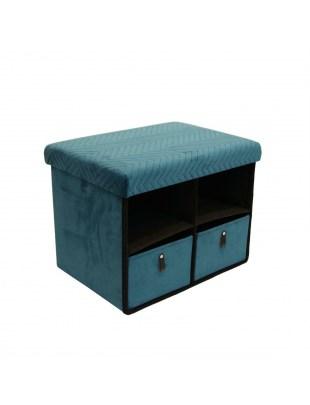 Pufa z szufladami Hiding 50cm niebiesk a