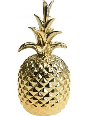Dekoracja Ananas Dolomit złoty