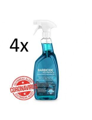 4 x Barbicide Spray Do Dezynfekcji Wszystkich Powierzchni 1000ml Bez Zapachu