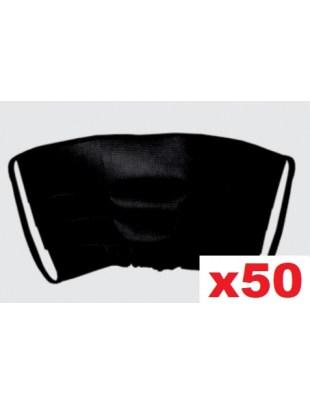 Maseczka jednorazowa, ochronna maska na twarz PLISA czarna 50szt