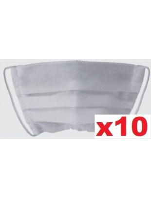 Maseczka jednorazowa, ochronna maska na twarz PLISA biała 10szt