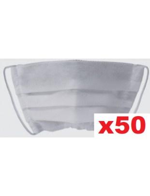 Maseczka jednorazowa, ochronna maska na twarz PLISA biała 50szt