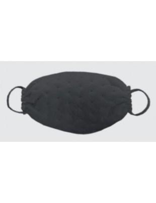 Ochronna maseczka jednorazowa maska fizelina KROPKI czarna 1szt
