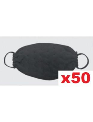 Ochronna maseczka jednorazowa maska fizelina KROPKI czarna 50szt