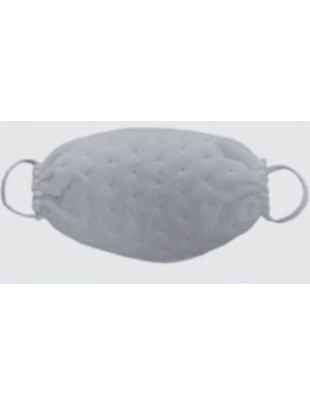 Ochronna maseczka jednorazowa maska fizelina KROPKI biała 1szt
