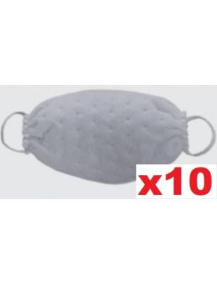Ochronna maseczka jednorazowa maska fizelina KROPKI biała 10szt