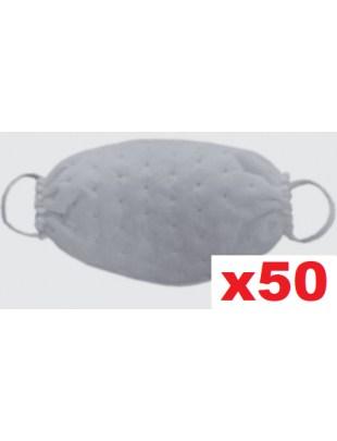 Ochronna maseczka jednorazowa maska fizelina KROPKI biała 50szt
