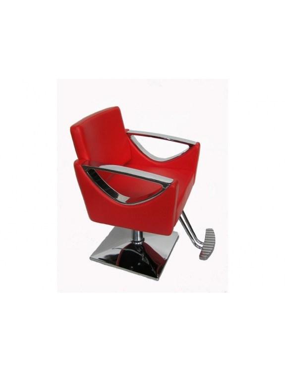 Fotel fryzjerski Messina - czerwony