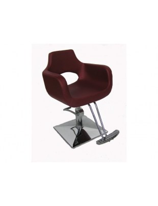 Fotel fryzjerski Ravenna - burgund