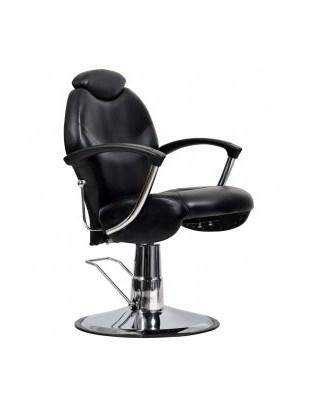 Montreal - Fotel fryzjerski męski czarny