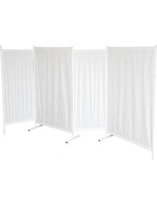 Parawan składany P4 biały cztery panele