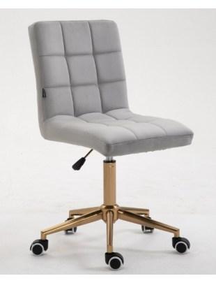 Camelia - Krzesło kosmetyczne stalowy welur
