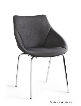 LUMI - krzesło tapicerowane - CZARNY