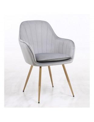 GLORIA - Fotel do poczekalni welur stalowy