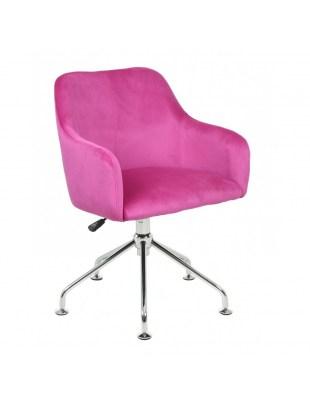 DAVINA - Fotel fryzjerski tapicerowany malinowy