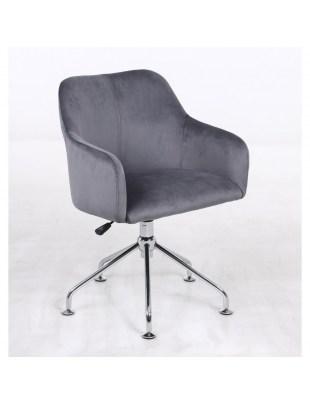 DAVINA - Fotel do salonu fryzjerskiego grafitowy