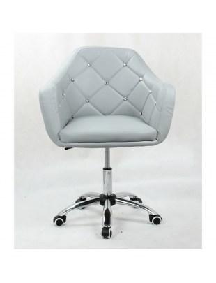 Blink - Krzesło kosmetyczne szare na kółkach