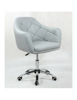 Blink - Fotel fryzjerski szary na kółkach