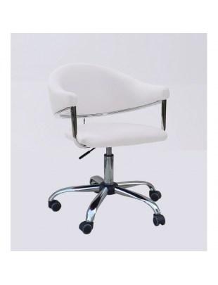 Carole - fotel fryzjerski biały