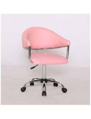 Carole - fotel fryzjerski różowy