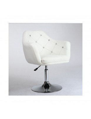 Blink - Fotel fryzjerski biały WYBÓR PODSTAW