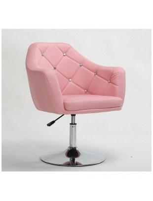 Blink - Fotel fryzjerski Różowy