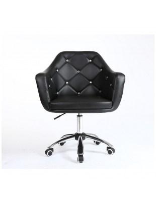 Blink - Fotel fryzjerski na kółkach czarny