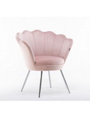 ARIA - Fotel pudrowy róż muszelka
