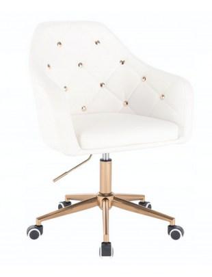 Blink - Fotel fryzjerski biały
