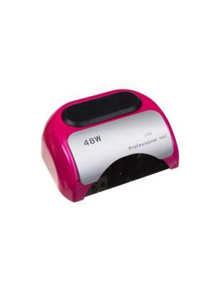 Lampa 48W Dual LED UV Timer + Sensor LED06 Różowa