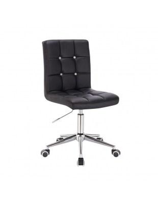 KRIS C - Czarne krzesło kosmetyczne obrotowe