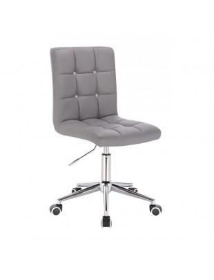 KRIS C - Szare krzesło kosmetyczne obrotowe