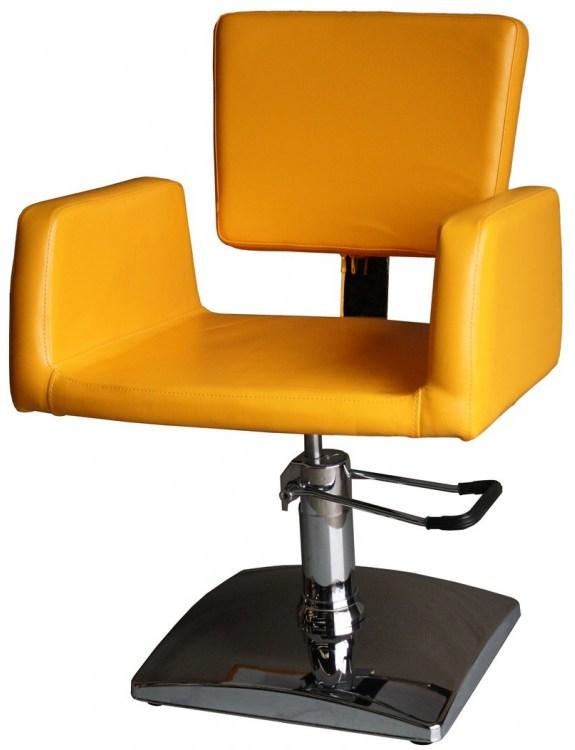 Fotel fryzjerski 1164 Genova - żółty