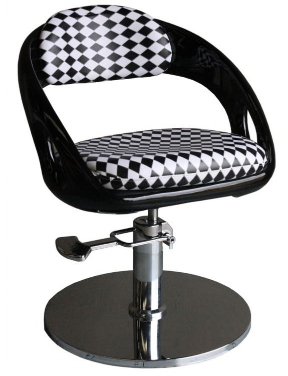 Fotel fryzjerski Avellino 1753 - czarno-biały