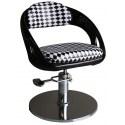 Avellino 1753 - Fotel fryzjerski - czarno-biały
