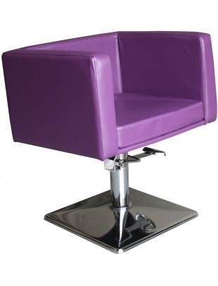 Fotel fryzjerski Massa - fioletowy