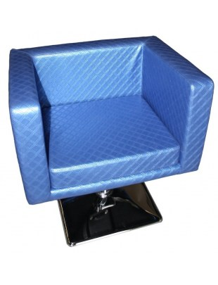 Fotel fryzjerski Massa - niebieski