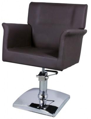Fotel fryzjerski Latina 1171 - brązowy