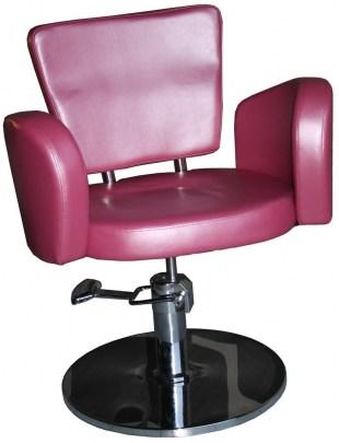 Fotel fryzjerski Cesano 1367 - różowy